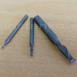 Mill perävaunu, 2 sulka, karbidi, Dia.1,0x3x38x3 mm