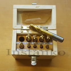 Metrinen koko 4 huilu päättyy mylly sarja,10 kpl,HSSCo (halk..3-12 mm)