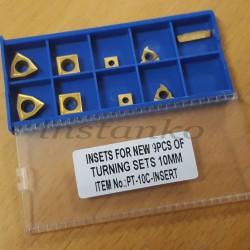 Kääntöpalat 9-osainensarja, jotka on päällystetty (leikkuri-jakso 10 mm)