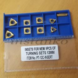 Kääntöpalat 9-osainensarja, jotka on päällystetty (leikkuri-jakso 12 mm)