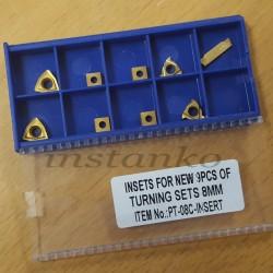 Kääntöpalat 9-osainensarja, jotka on päällystetty (leikkuri-jakso 8mm)