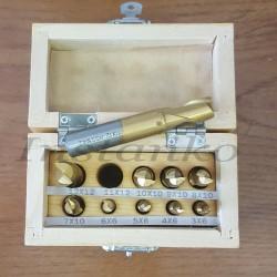 Metrinen koko 2 huilu päättyy mylly sarja,10 kpl,HSSCo (halk..3-12 mm)