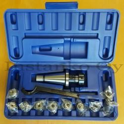 Jyrsinistukkasarja ER25-10 os ISO40 M16 (3,0-16,0 mm)