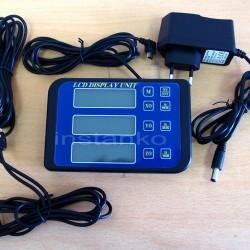 3-akselin LCD, mukana USB