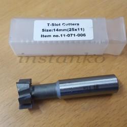 T-urajyrsimet,HSS, 14x25x11x16 mm