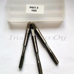 Käsikierretapit sarja  metrinen, M6 x 1,0 mm,HSS,DIN352