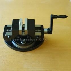 Itsekeskittävä koneruuvipuristin 50 mm, Kääntyvä pohja